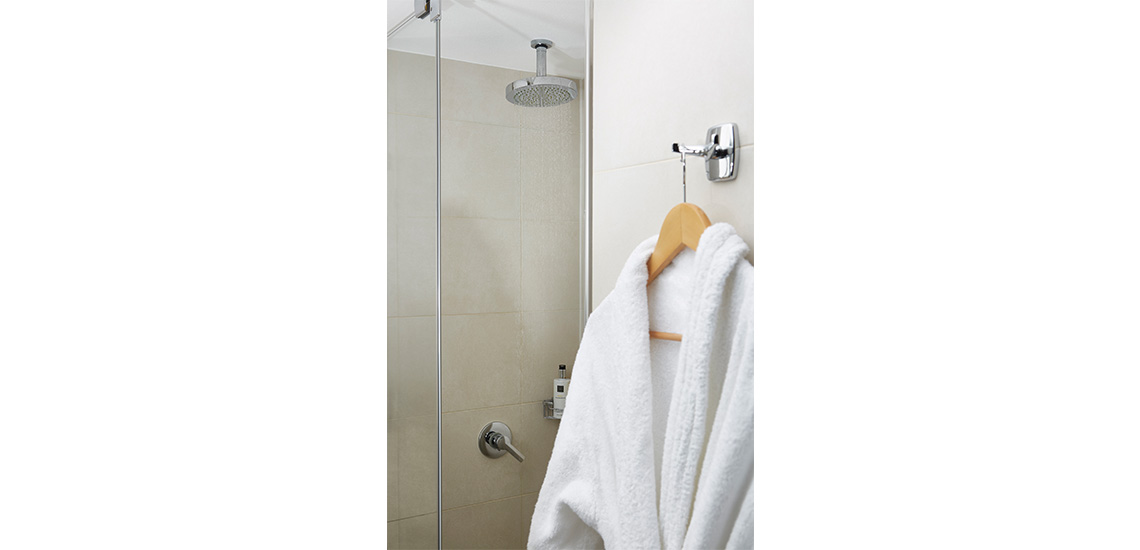 Shower-Standard Twin Room at The Westbridge Hotel London