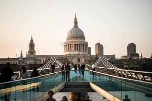 View of St Paul's Cathedral in London