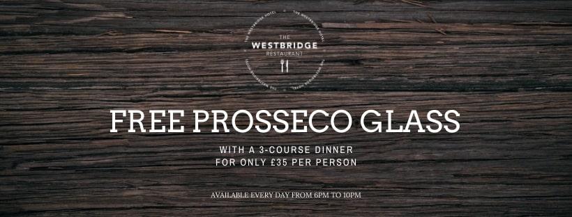 FREE GLASS OF PROSECCO
